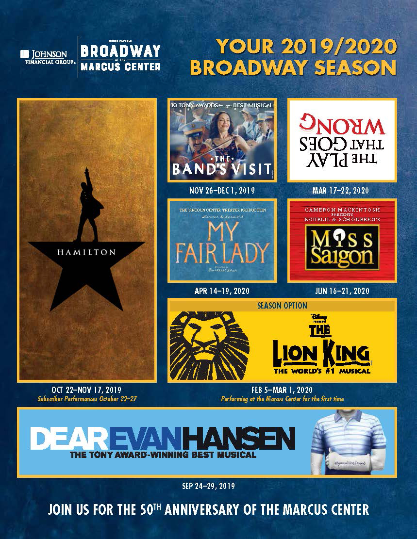 Broadway at the Marcus Center