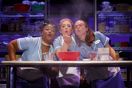 Charity Angel Dawson Desi Oakley And Lenne Klingaman In The National Tour Of Waitress Credit Joan Marcus 0769r