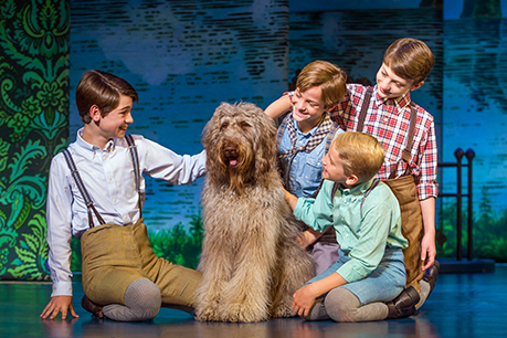Colin Wheeler Sammy Turner Birthisel Bergman Freedman And Wyatt Cirbus In Finding Neverland Credit Jeremy Danielimg0443