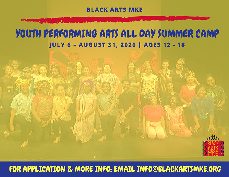 Black Arts Youth Camp at the Marcus Center in Milwaukee